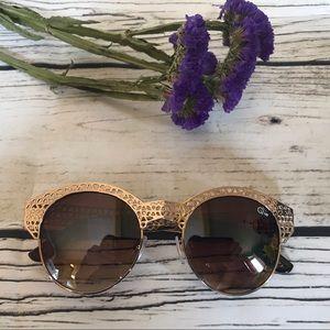Quai Australia PIPPA Gold Tone Sunglasses
